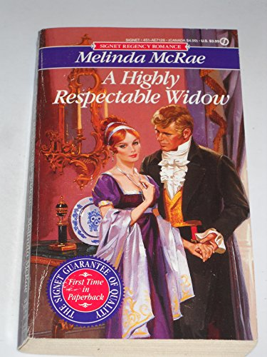 9780451171269: A Highly Respectable Widow (Signet)