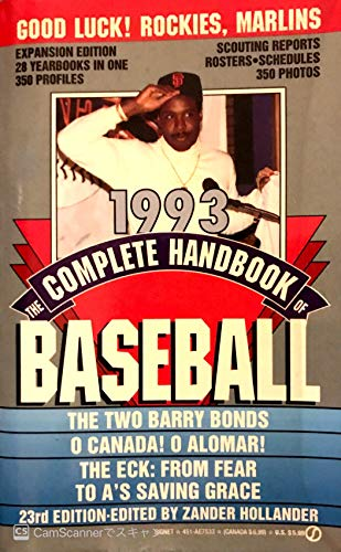 9780451175335: The Complete Handbook of Baseball 1993: 1993 Edition (Signet)