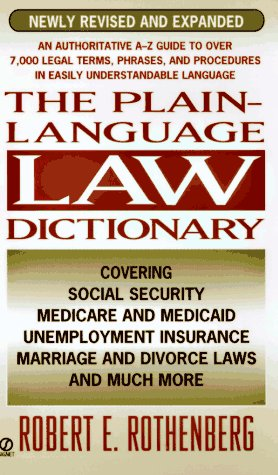 9780451184085: Plain Language Law Dictionary: Revised Edition