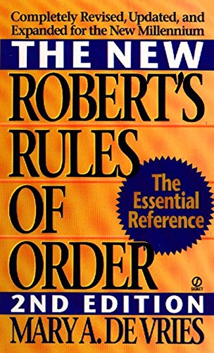 9780451195173: The New Robert's Rules of Order: Completely Revised, Updated, and Expanded for the New Millennium