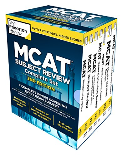 9780451487155: Princeton Review MCAT Subject Review Complete Box Set, 2nd Edition: 7 Complete Books + Access to 3 Full-Length Practice Tests