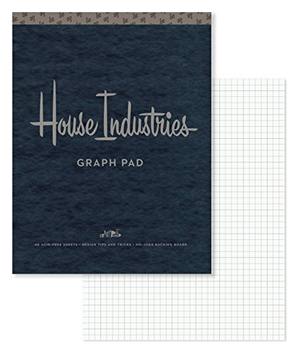 9780451498724: House Industries Graph Pad: 40 Acid-Free Sheets, Design Tips, Extra-Thick Backing Board