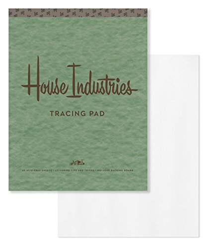 9780451498731: House Industries Tracing Pad: 40 Acid-Free Sheets, Lettering Tips, Extra-Thick Backing Board