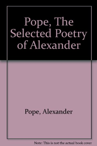 9780451508539: Pope, The Selected Poetry of Alexander