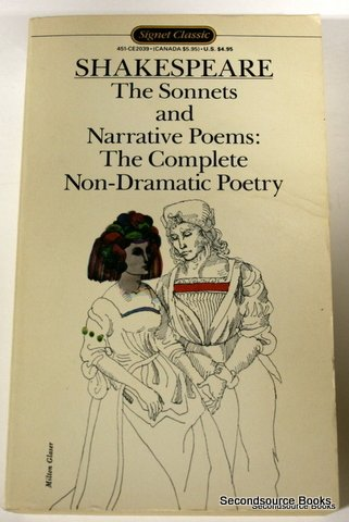 9780451520395: The Sonnets and Narrative Poems: The Complete Non-Dramatic Poetry (Shakespeare, Signet Classic)