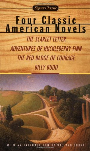 Four Classic American Novels: The Scarlet Letter: Nathaniel Hawthorne, Mark