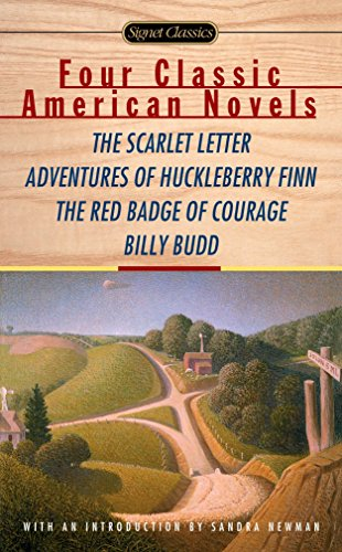 Four Classic American Novels: The Scarlet Letter, Adventures of Huckleberry Finn, The Red Badge O...