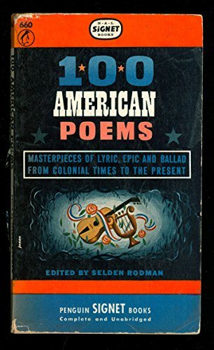 9780451603883: Title: 100 American Poems