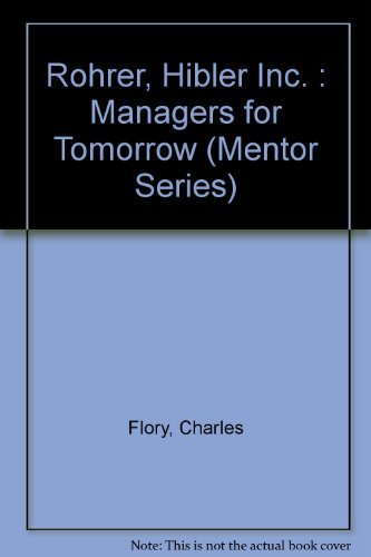9780451619389: Managers for Tomorrow (Mentor Series)