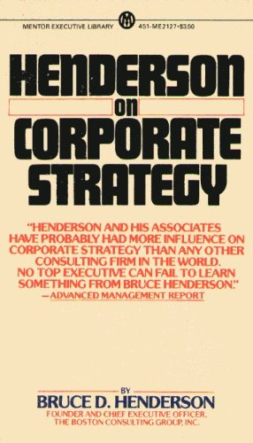 9780451621276: Henderson on Corporate Strategy (Mentor Series)