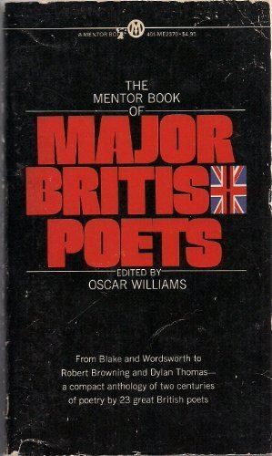 9780451623706: Mentor Book of Major British Poets