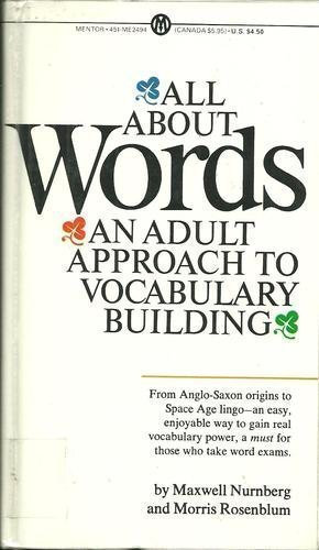 9780451624949: All About Words: An Adult Approach to Vocabulary Building