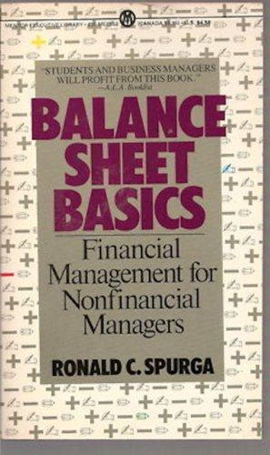 9780451625533: Spurga Ronald C. : Balance Sheet Basics (Mentor Series)