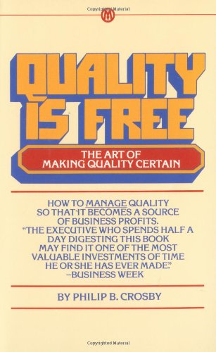 9780451625854: Quality Is Free: The Art of Making Quality Certain