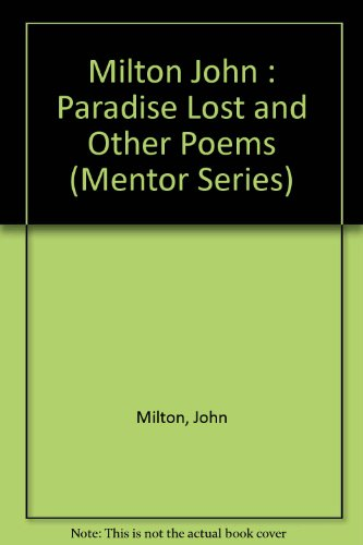 9780451625922: Paradise Lost and Other Poems (Mentor Series)