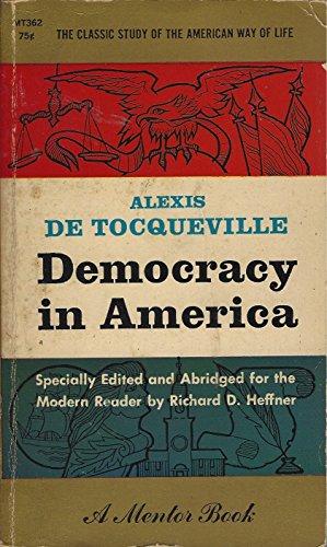 9780451626974: Democracy in America: Abridged Edition (Mentor)