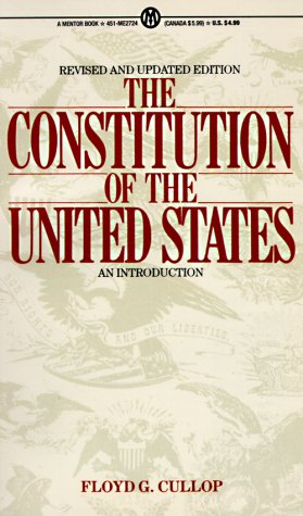 9780451627247: The Constitution of the United States: An Introduction, Revised and Updated Edition (Mentor Series)