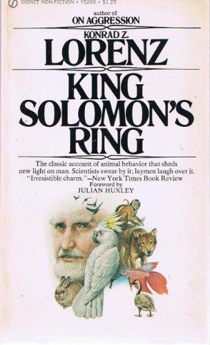 9780451628312: King Solomon's Ring: New Light On Animals Ways (Signet)