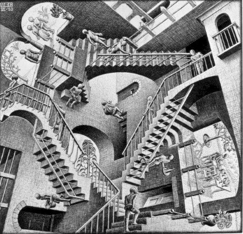THE WORLD OF M.C. ESCHER: M.C. Escher; J.L. Locher