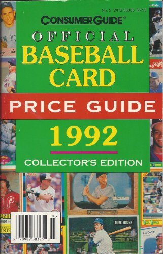9780451822550: The Official Baseball Card Price Guide 1992