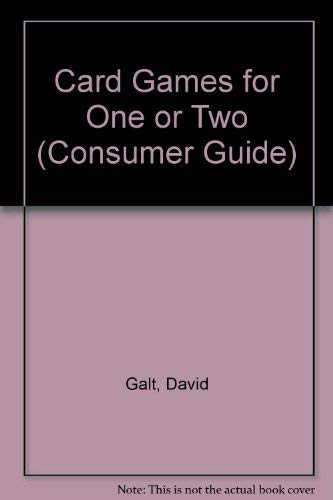 9780451823007: Card Games for One or Two (Creative Ideas)