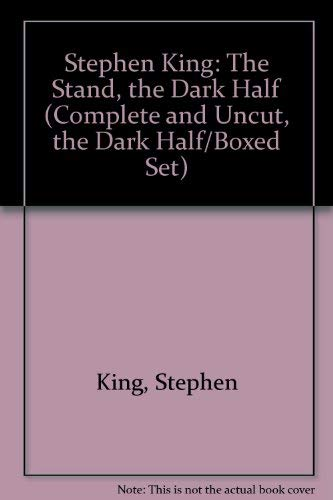 9780451931436: Stephen King: The Stand, the Dark Half (Complete and Uncut, the Dark Half/Boxed Set)