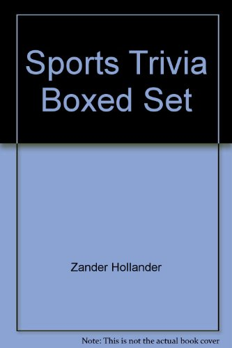 9780451935700: Sports Trivia Boxed Set: 4 Volumes: The Illustrated Sports Record Book; The Ultimate Baseball Quiz Book; Great Baseball Feats, Facts and Firsts; The All-New Ultimate Football Quiz Book
