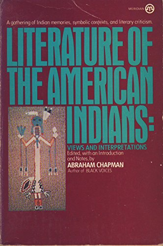 Literature of the American Indian (Meridian Books): Plume