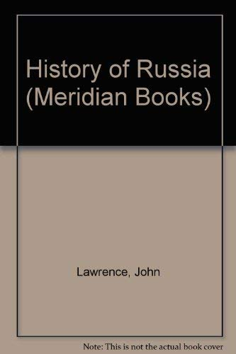 9780452004887: The History of Russia (Meridian Books)