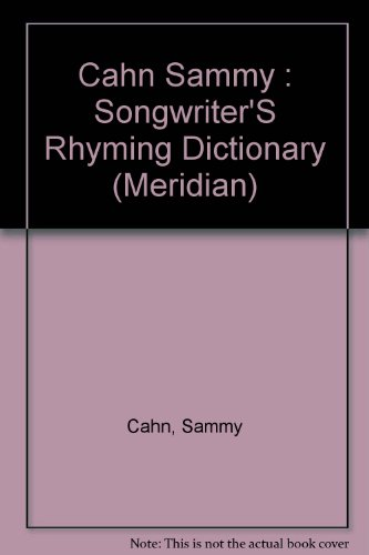 9780452009547: The Songwriter's Rhyming Dictionary (Meridian)