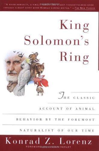 9780452011755: King Solomon's Ring: New Light on Animal Ways