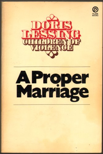 9780452257894: Lessing Doris : Proper Marriage (Plume)