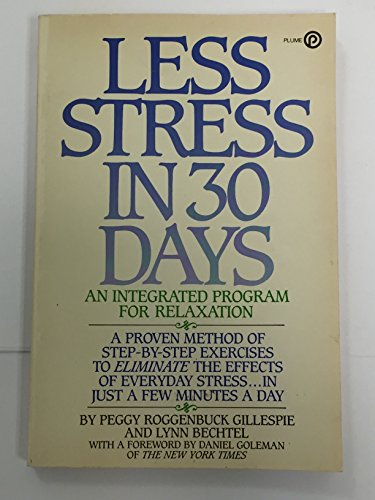 9780452258297: Less Stress in Thirty Days