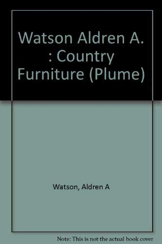 9780452259232: Country Furniture (Plume)
