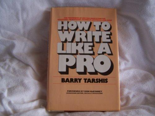 9780453004183: How to Write Like a Pro