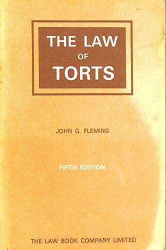 9780455194974: The law of torts