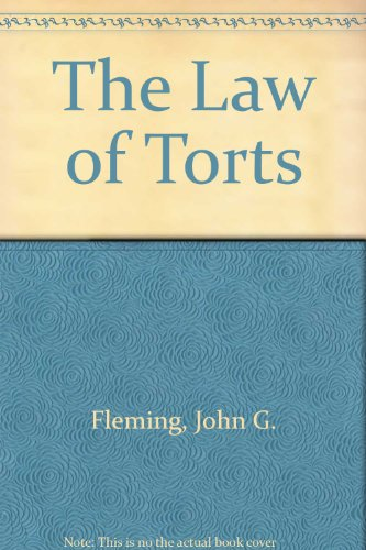 9780455207544: The Law of Torts