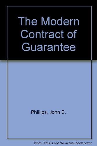 9780455210902: The Modern Contract of Guarantee