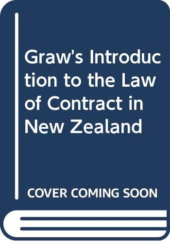 9780455212296: Graw's Introduction to the Law of Contract in New Zealand