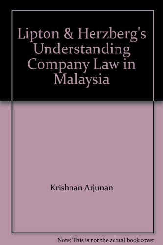 9780455213514: Lipton & Herzberg's Understanding Company Law In Malaysia