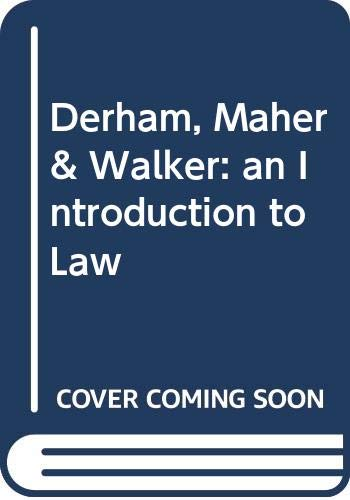 9780455213538: Derham, Maher and Waller : An Introduction to Law