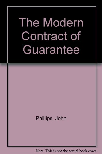 9780455214351: The Modern Contract of Guarantee