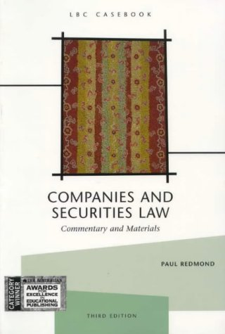 9780455215693: Companies and Securities Law : Commentary and Materials