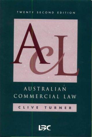 9780455216225: Australian Commercial Law