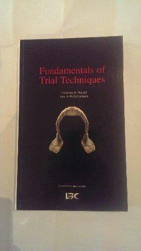9780455217468: Fundamentals of Trial Techniques