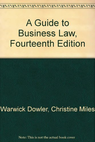 9780455217765: A Guide to Business Law, Fourteenth Edition