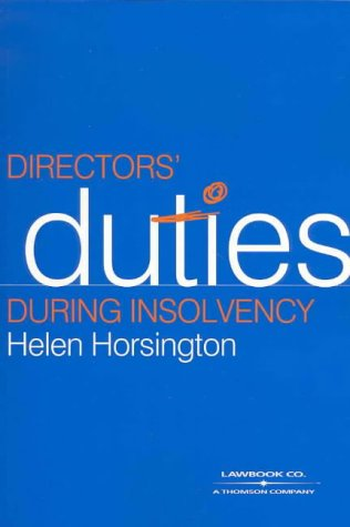 9780455218083: Director's Duties during Insolvency