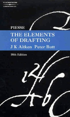 9780455219455: Piesse: The Elements of Drafting