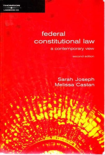 9780455221205: Federal Constitutional Law a contemporary view