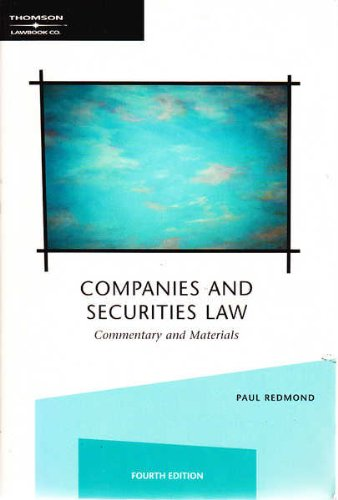 9780455222547: Companies and Securities Law: Commentary and Materials